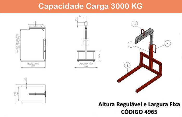 Garfo Paleteiro Regulável 4965