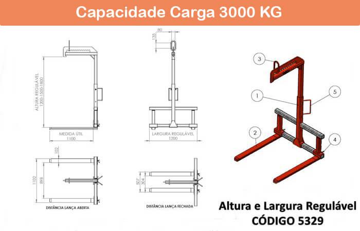 Garfo Paleteiro Regulável 5329